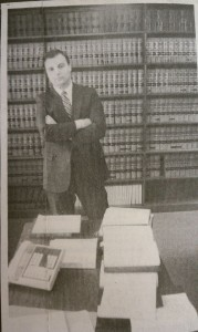 Attorney Orlando in his law library, 1983.