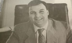 Procurador Orlando em seu escritório, 1990