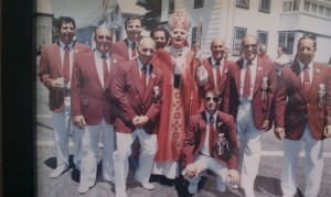 Attorney Orlando, in back, second from left, with the Fiesta Committee in the early 1980s.